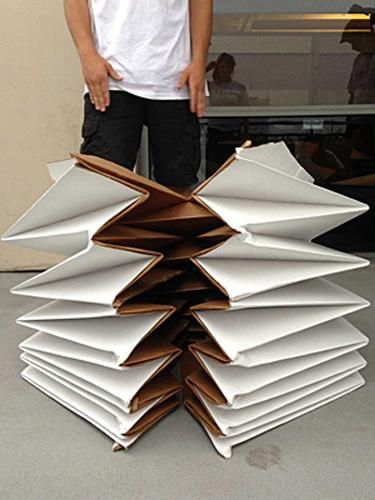 Foldable Cardboard Tents Offering Light Portable Shelters ... - photo#30