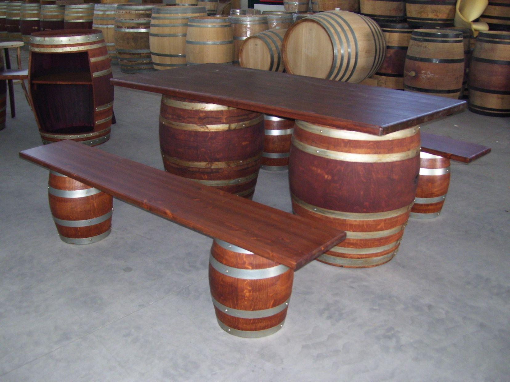 Botte Tavolo ~ 1440 tavolo a botte da birreria da 2 metri con panchine craft