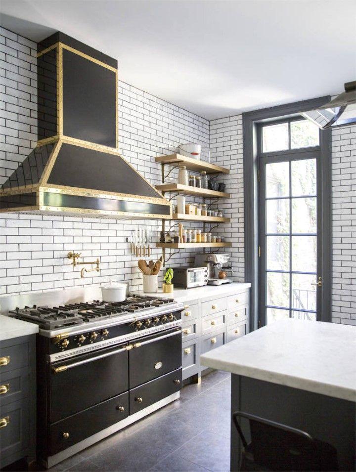 Black And White And Brass: A Winning Color Combination | Hudson Valley  Lighting · Kitchen TrendsKitchen DesignsKitchen ...