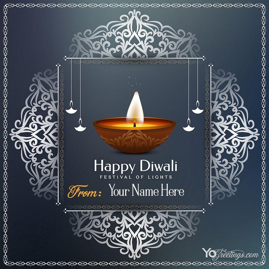 Write Name on Diwali Wishes Card Images  Diwali wishes, Happy