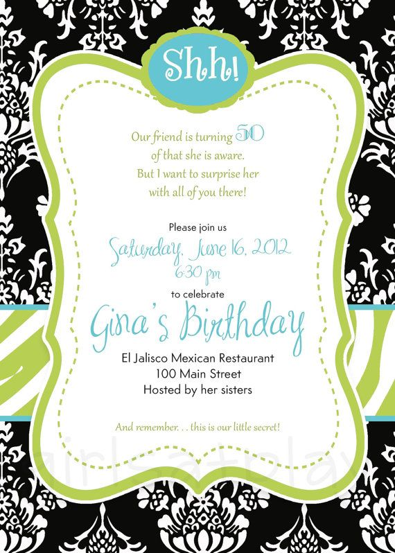 Clever 50th Birthday Invitation Wording – 50 Th Birthday Invitations