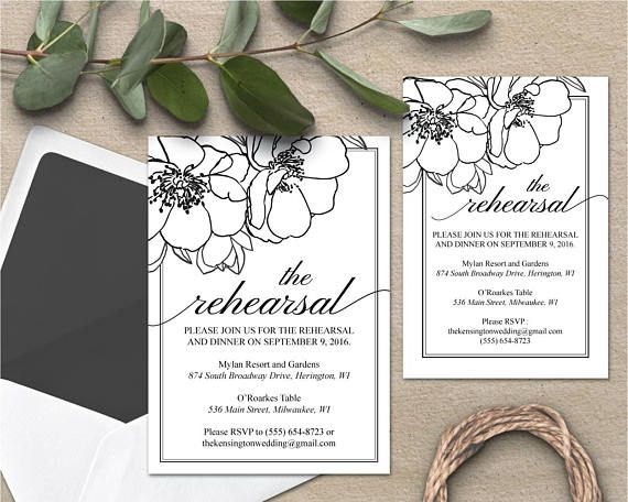 Dinner Invitation Template Floral Rehearsal Dinner Invitation Rehearsal Dinner Invite Template .