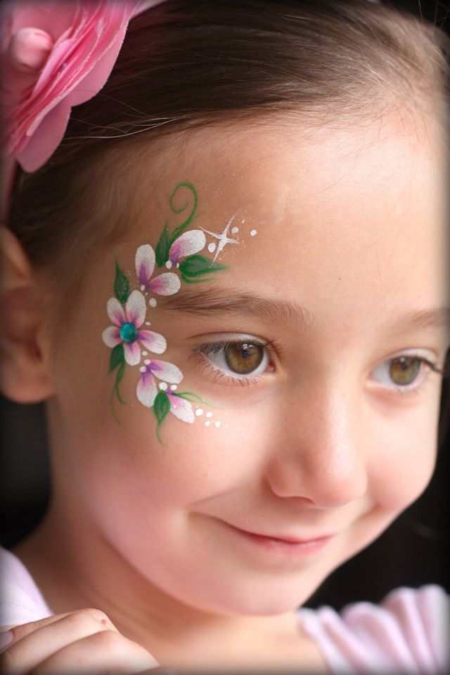Easy Flower Face Paint : flower, paint, Nadine's, Dreams, Painting, Calgary, Painter, Henna, Artist, Painting,, Flowers,