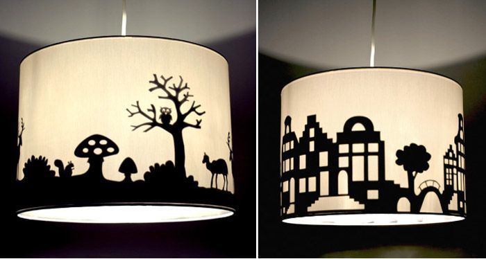 DIY Lampshade Silhouette (projects, Crafts, Do It Yourself