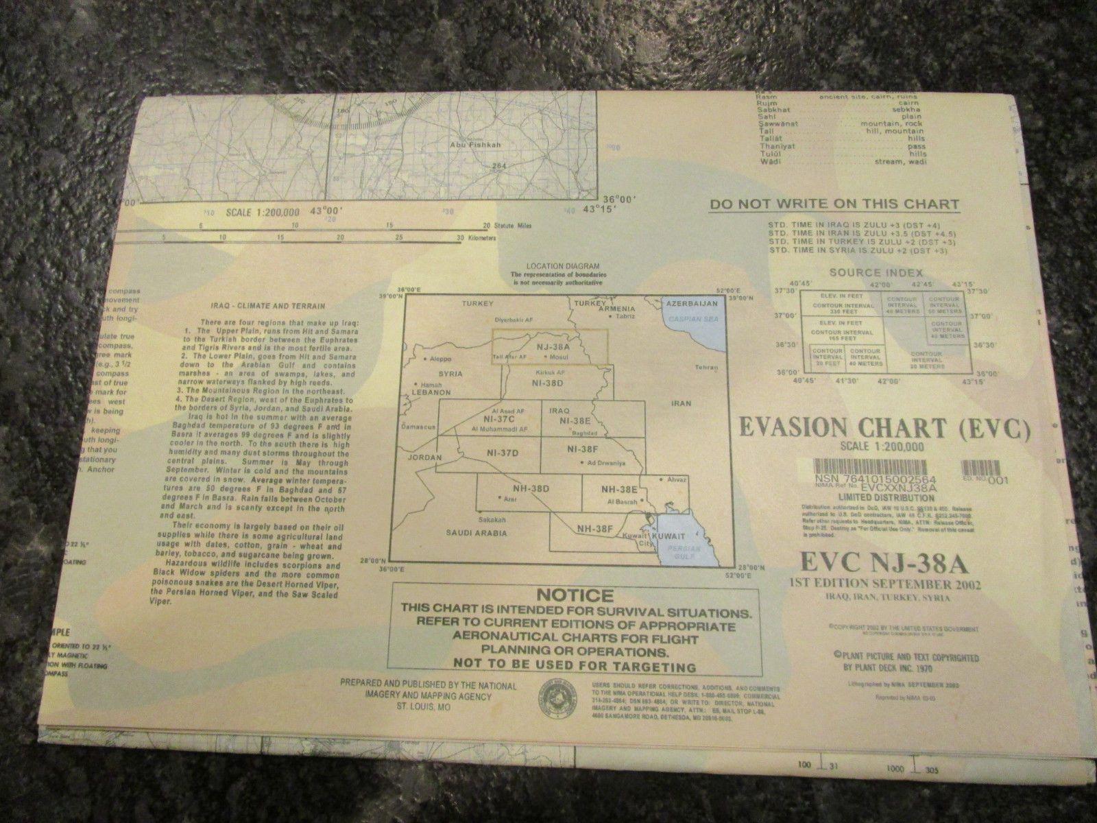 us military forces evasion chart map evc nj 38a iraq iran turkey