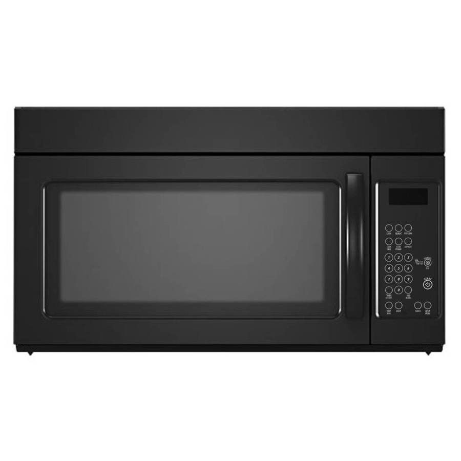 1 6 Cu Ft Over The Range Microwave Black Common 30 In Actual
