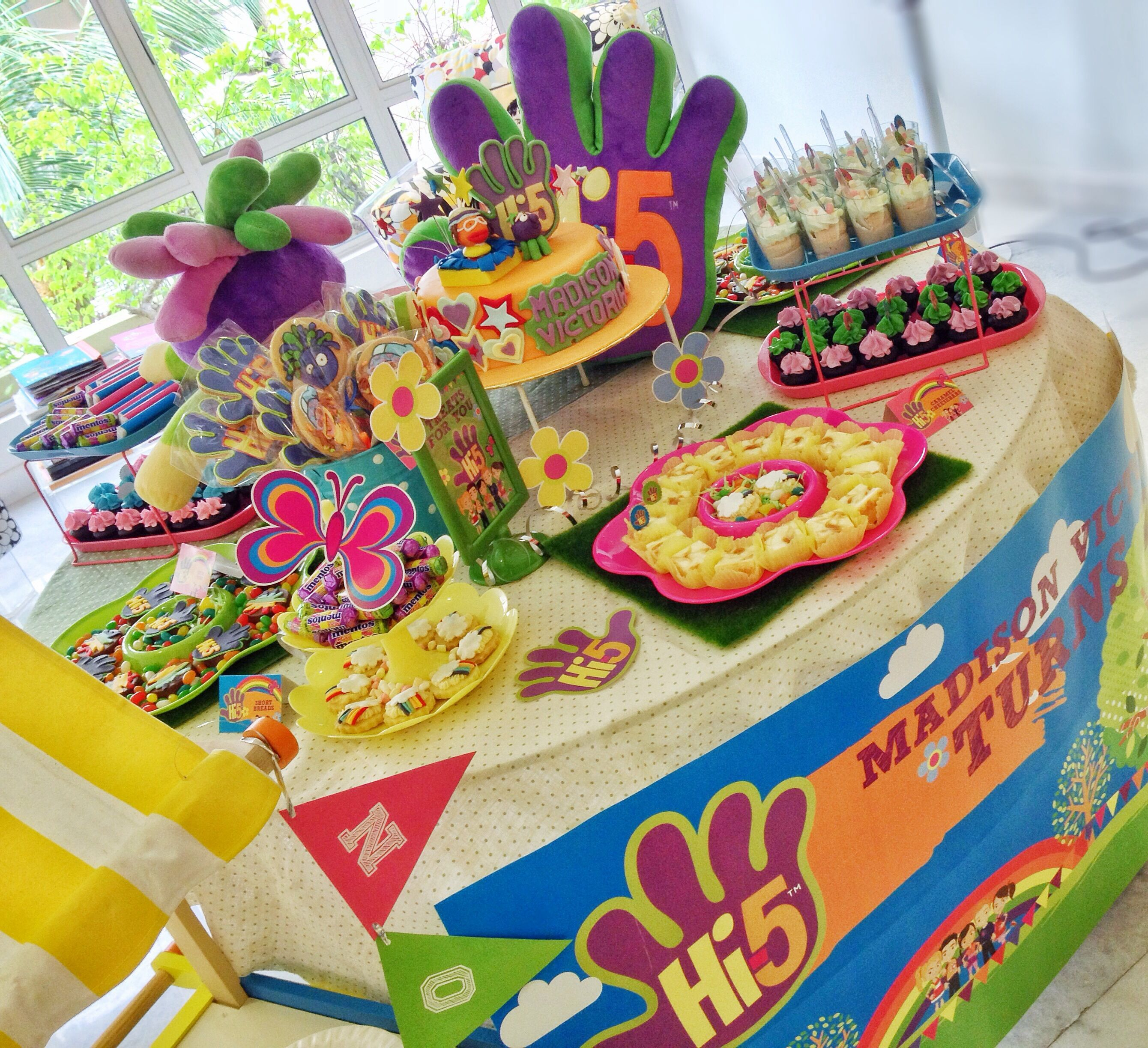 Hi 5 Themed Party 5th Birthday Ideas Decorations Themes