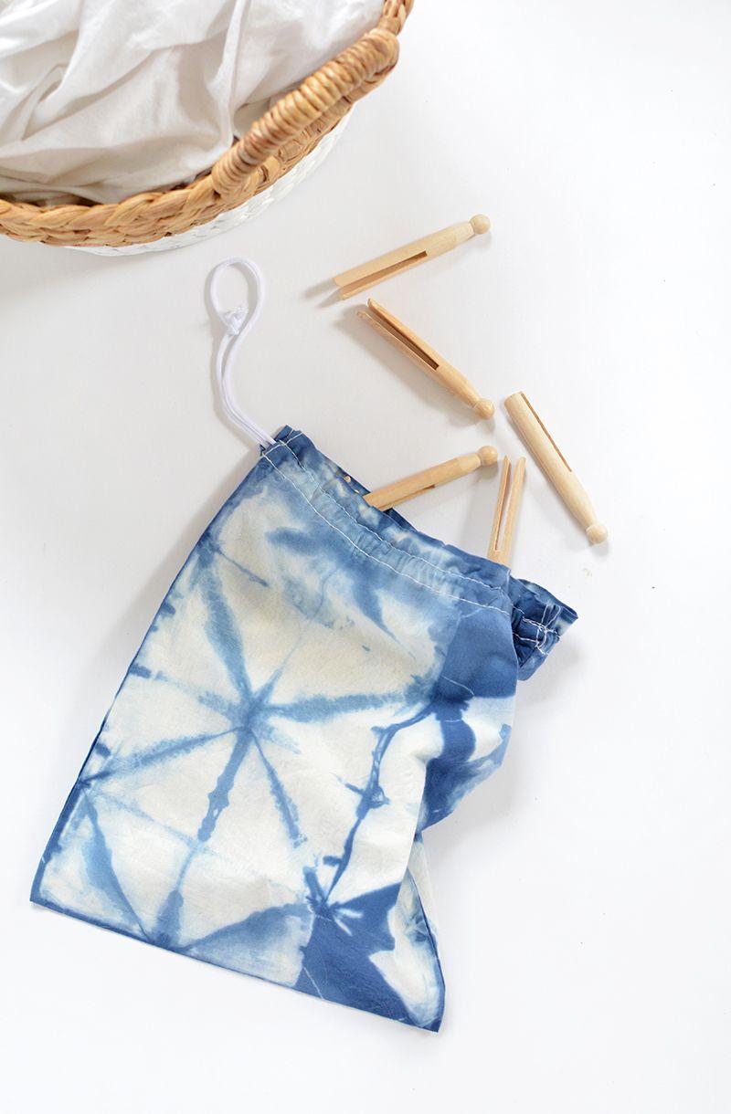 DIY shibori peg bag | Peg bag, Shibori and Bag