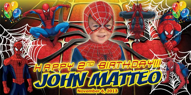 birthday tarpaulin spiderman theme version 2 template