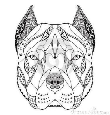 Pitbulls Love Mandala Tasarim Dovmeler Pitbull Geometrik Dovmeler