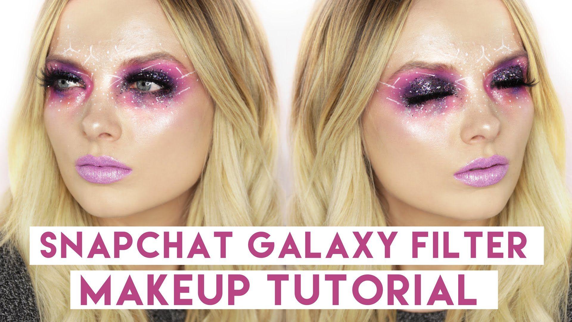 SNAPCHAT Galaxy Filter Makeup Tutorial! // MyPaleSkin