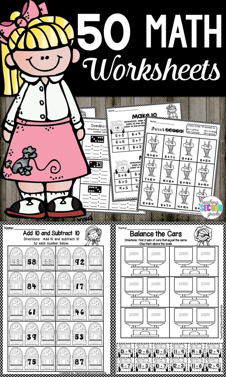 2nd Grade Math Review   Math Worksheets Second Grade   Arithmetic ...