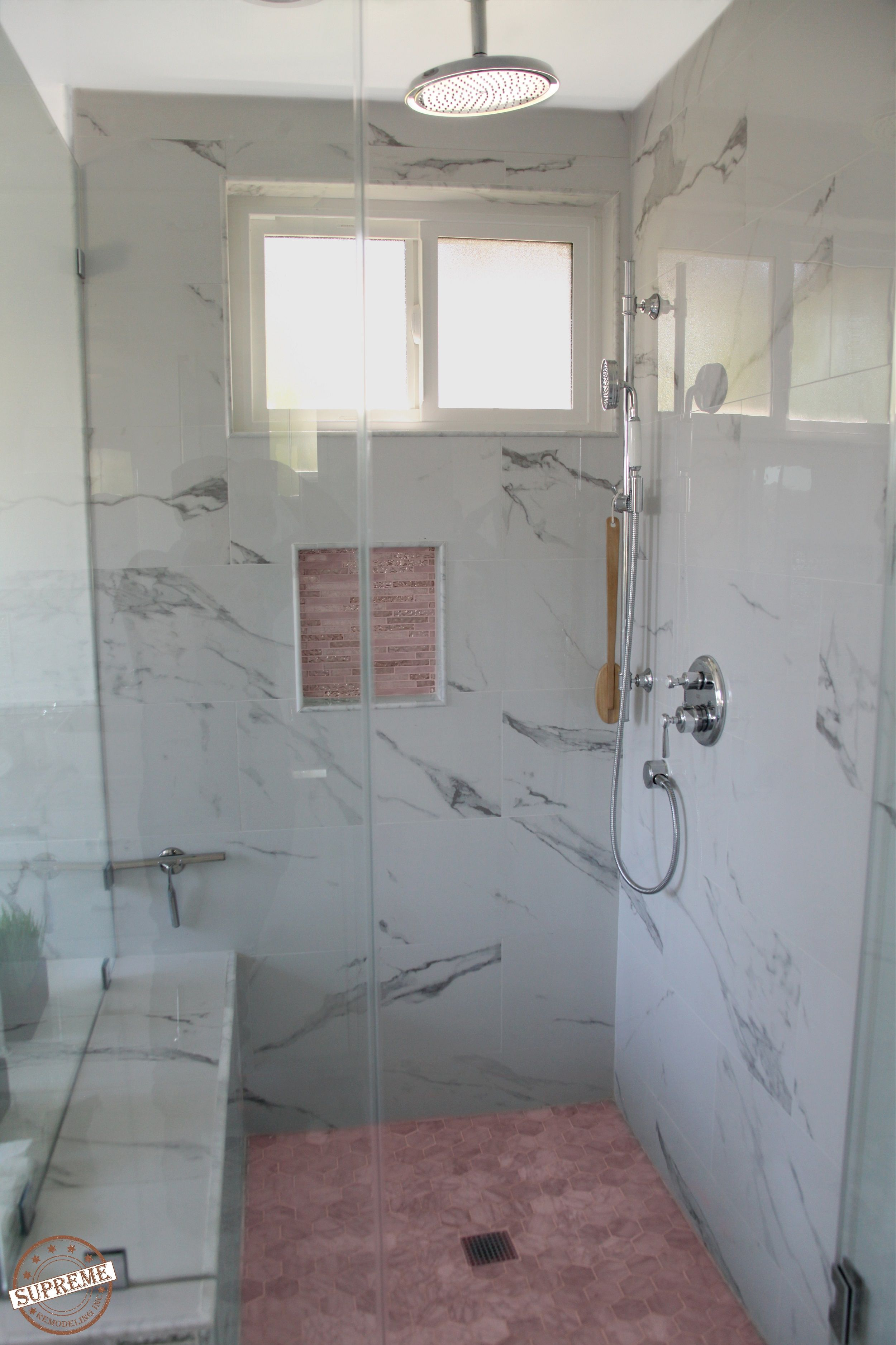 Cultured Marble Is An Elegant Material Choice For A New Shower
