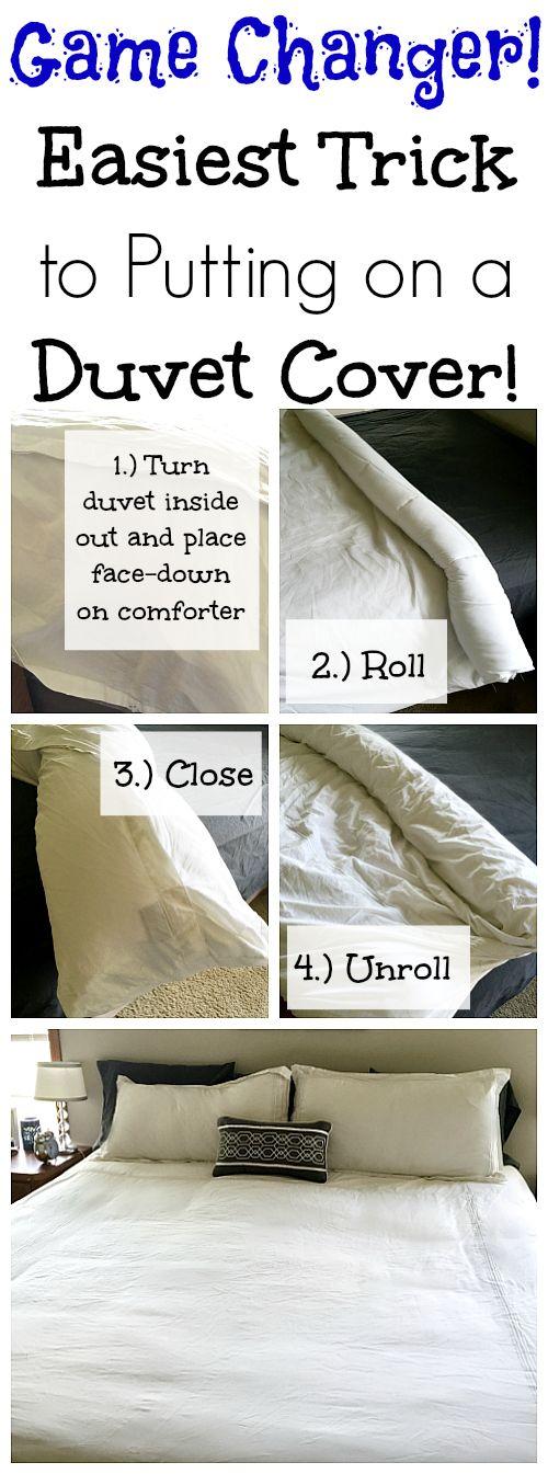 Easy Trick to Putting on a Duvet Cover   Lemons, Lavender