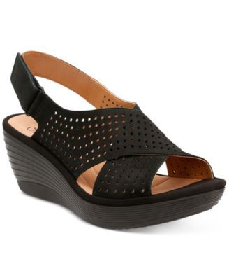 33f4fdd4917a Clarks Collection Women s Reedly Variel Wedge Sandals