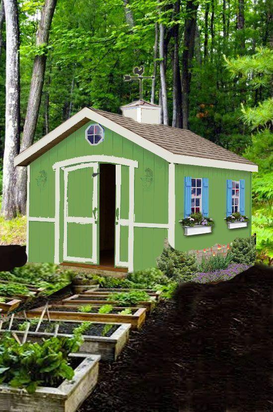 Build a Cute Garden Shed Backyard sheds, Shed, Shed plans