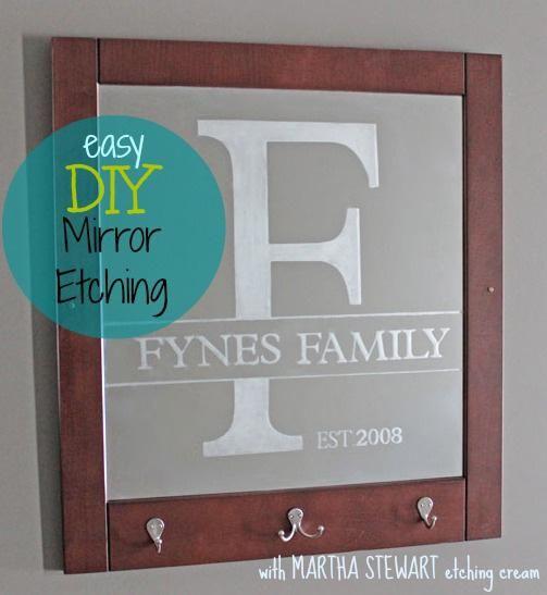 Easy Mirror Etching With Martha Stewart Crafts Etched Mirror Martha Stewart Crafts Learn Crafts