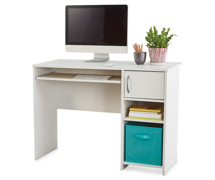Ameriwood Systembuild White Stipple Student Desk Big Lots Small Room Desk White Desk Bedroom Student Desks