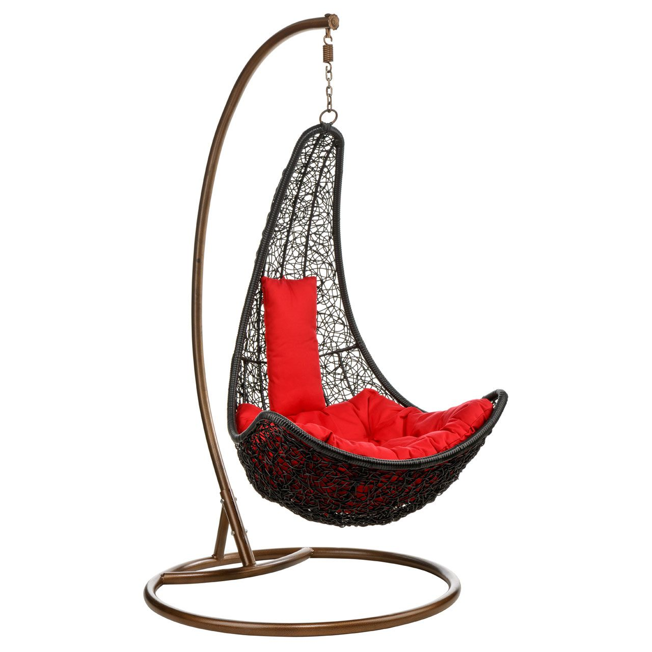 Cool Black Color Indoor Hanging Chair With Red Cushion Color And Brown Iron  Stained Color Good Looking Indoor Hanging Chair IKEA Design Ideas Chair,  Home ...