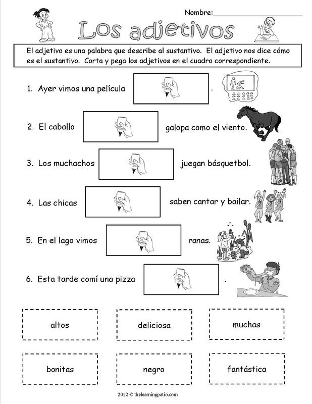 Archives #2 - The Learning Patio | ejercicios de español | Pinterest ...