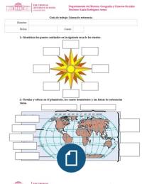 2 Guía de Ejercicio Tema línea del ecuador, meridiano de