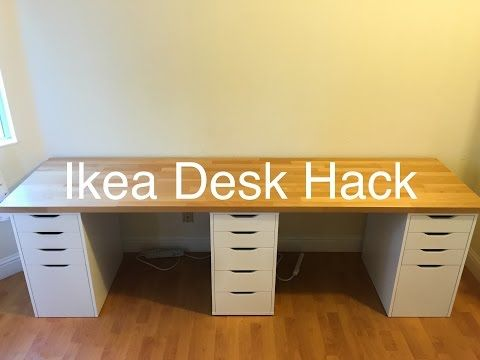 Ikea Desk Hack Youtube Ikea Desk Hack Ikea Desk Desk Hacks