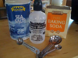 Homemade Sinus Rinse    I cannot live without this NeilMed