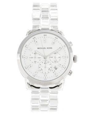 Clear Micheal Kors watch. My favorite watch. It goes with everything I  have.  ) Love it. 4d6e0dc6296
