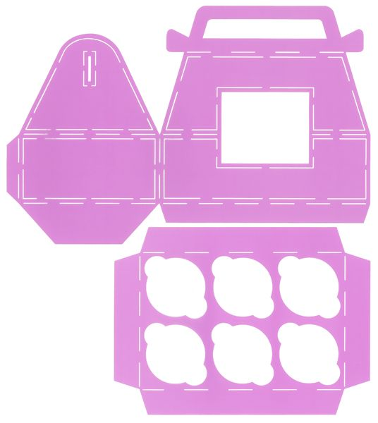 Cupcake Templates Collection - Six Cupcake Gable Box ...