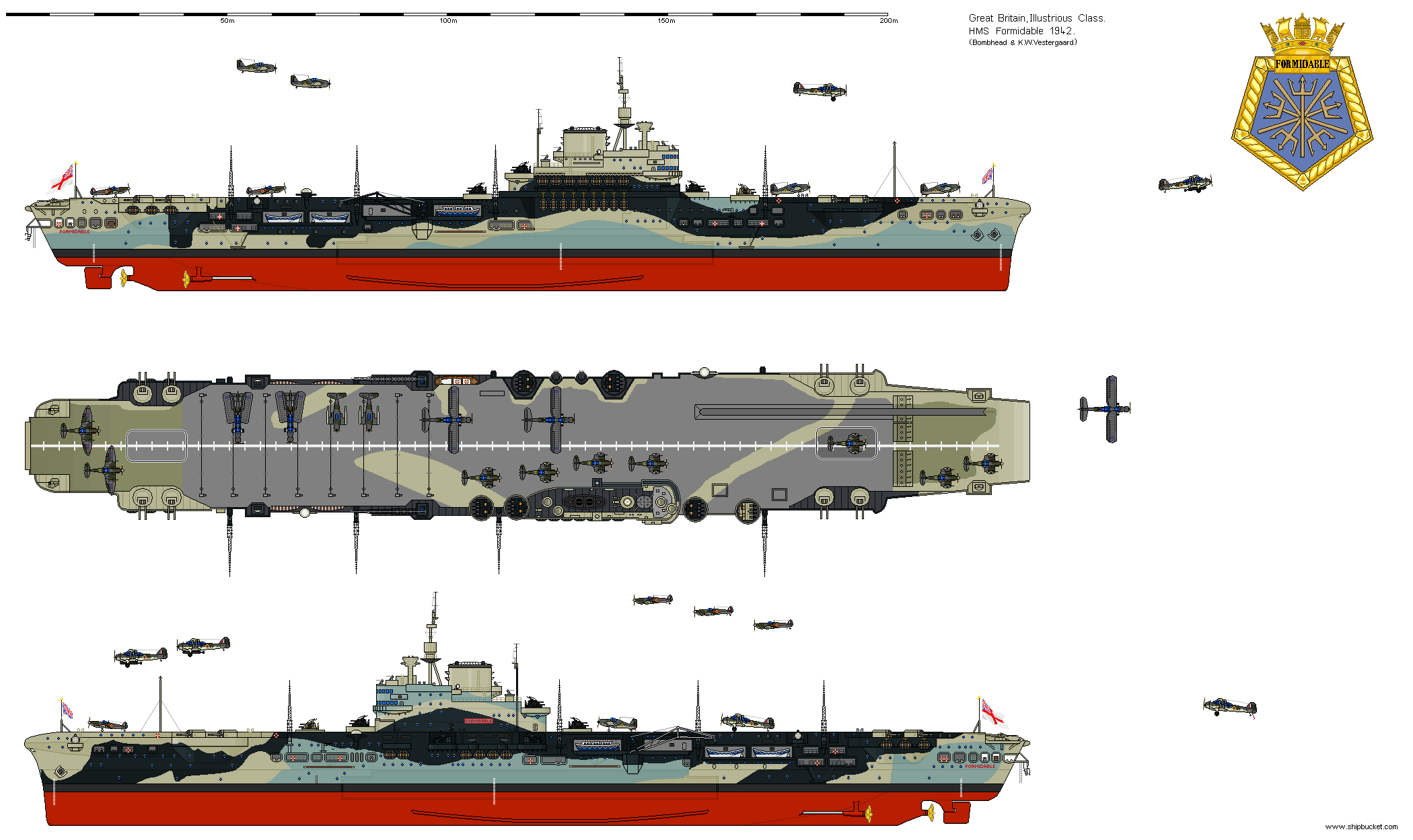 Shipbucket Real Designs Great Britain Cv 67 Formidable 1942 Png Royal Navy Aircraft Carriers Navy Carriers Navy Aircraft Carrier