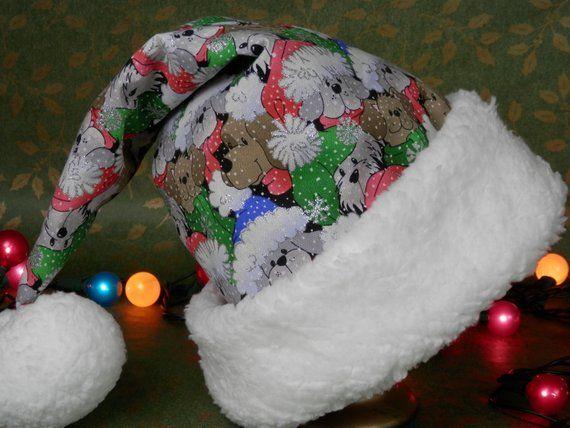 a5f44af4187bc Fun Christmas Dog Print Santa Hat