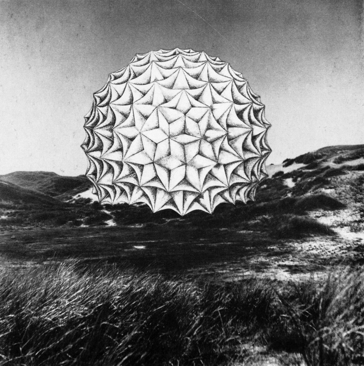 Gunter Gunschel, Project for a Dome Composed of Hyperbolic Paraboloids, 1957