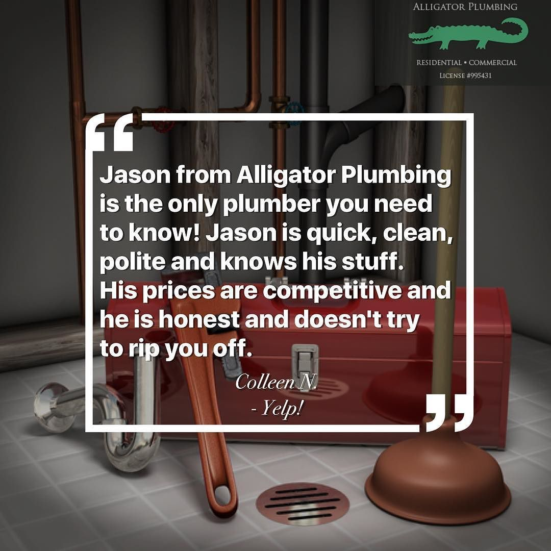 Thank You Colleen For Sharing Your Experience With Alligator Plumbing On Yelp Nothing Makes Us Happier Than Satisfied Customers Plumbing Plumbers Sewer R