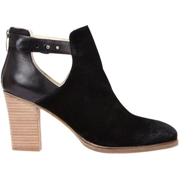 395200740b7c Mint Velvet Viola Block Heeled Ankle Boots , Black Suede ($215) ❤ liked on