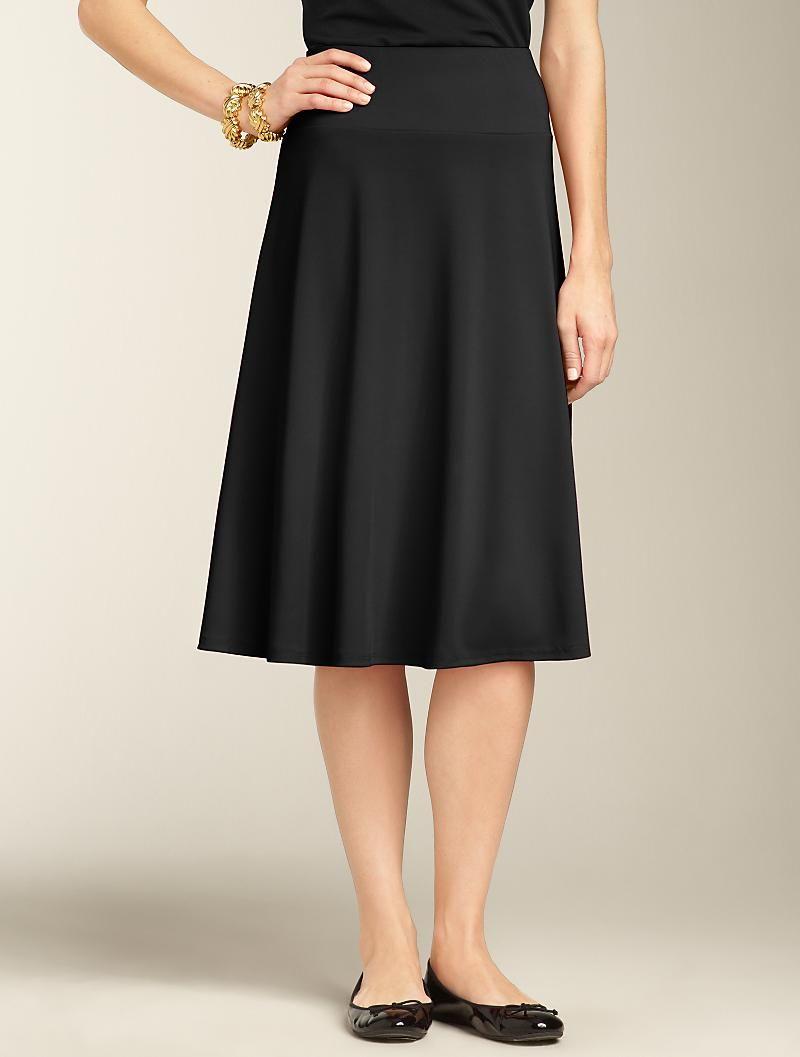 Talbots - Matte Jersey Skirt