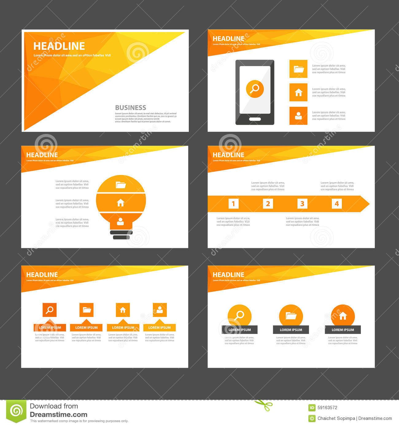 red green and green infographic element and icon presentation