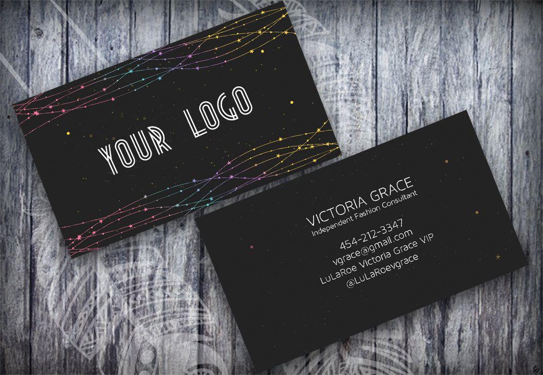 Lularoe Business Card Psd Template Customized No 27 Chalkboard Starry Night Lularoe Business Cards Business Card Psd Lularoe Business