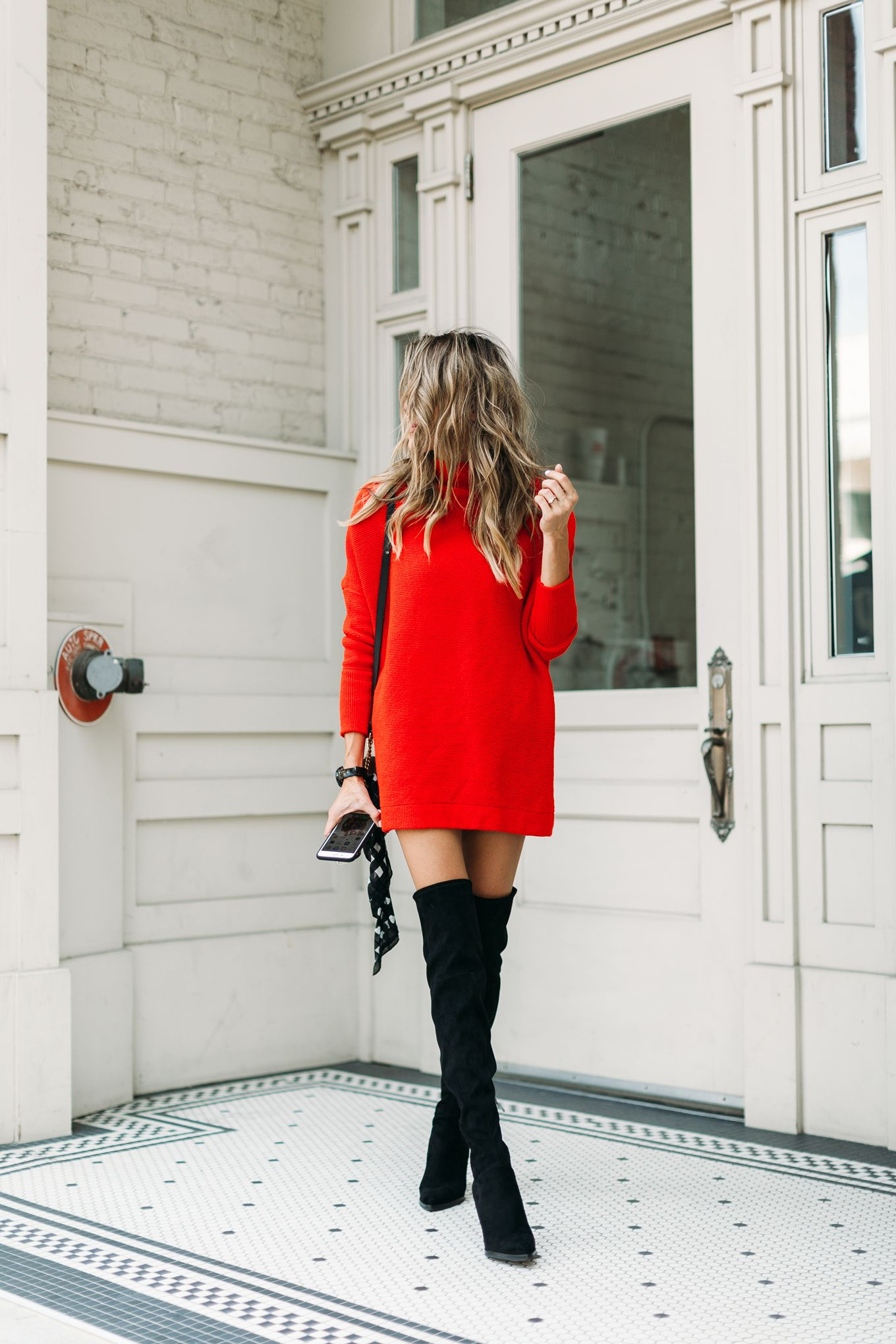 Little Red Dress with Little Black Boots 7af44addff12