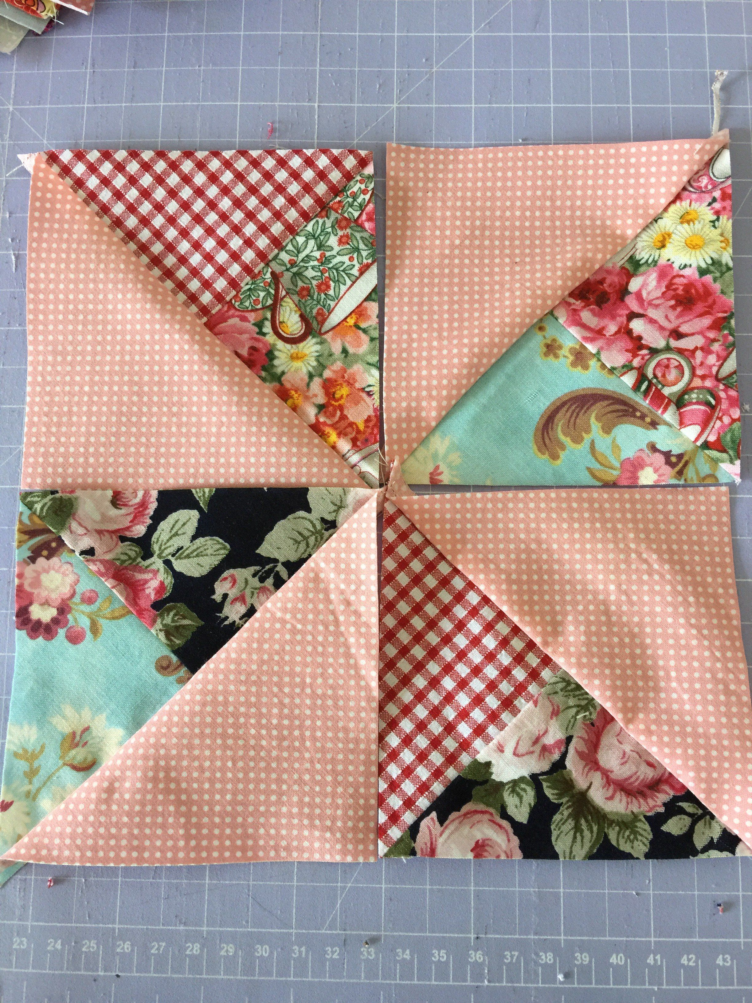 Double Pinwheel Block Easy Scrappy Style - Tutorial | Sewing ... : how to make pinwheel quilt blocks - Adamdwight.com