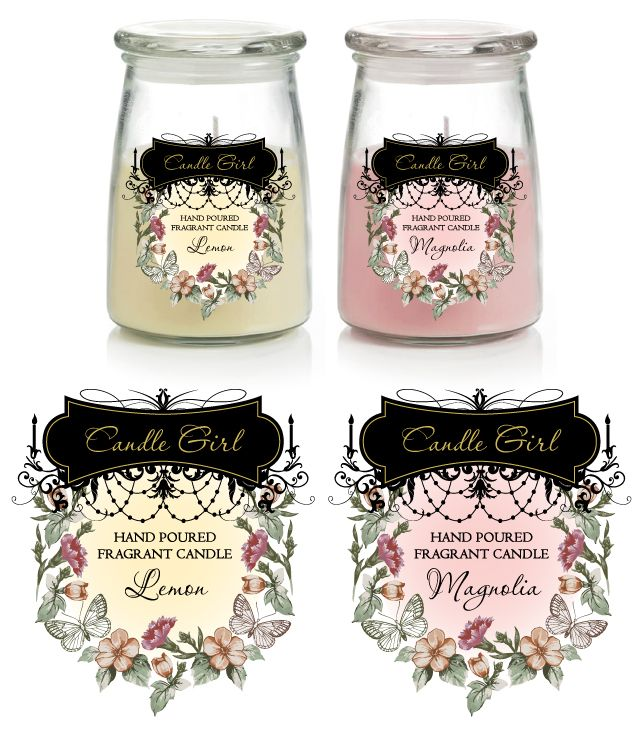 Candle Labels Template Soy Candle Making Pinterest – Label Design Templates