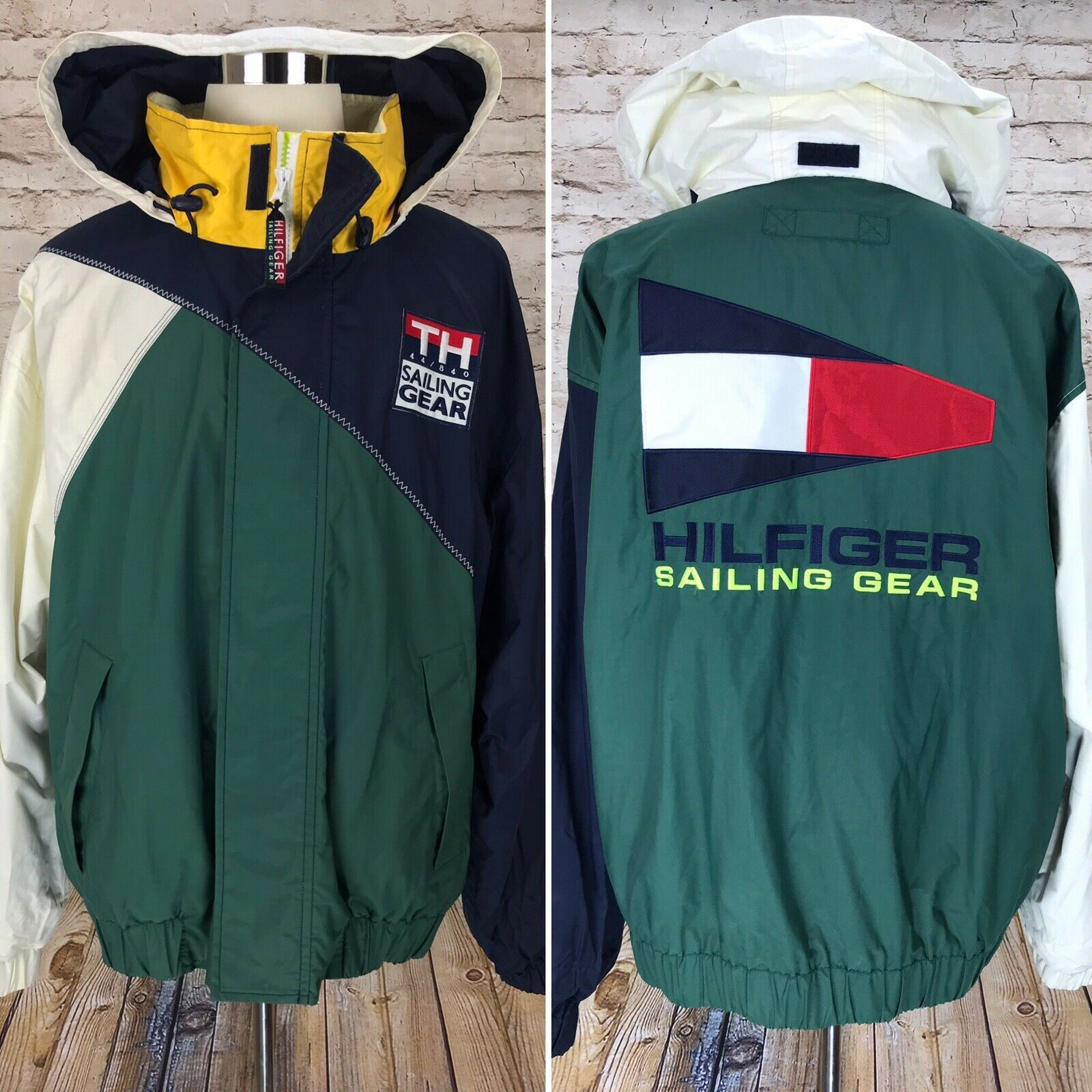 VTG Tommy Hilfiger XXL Sailing Gear Nautical Embroidered