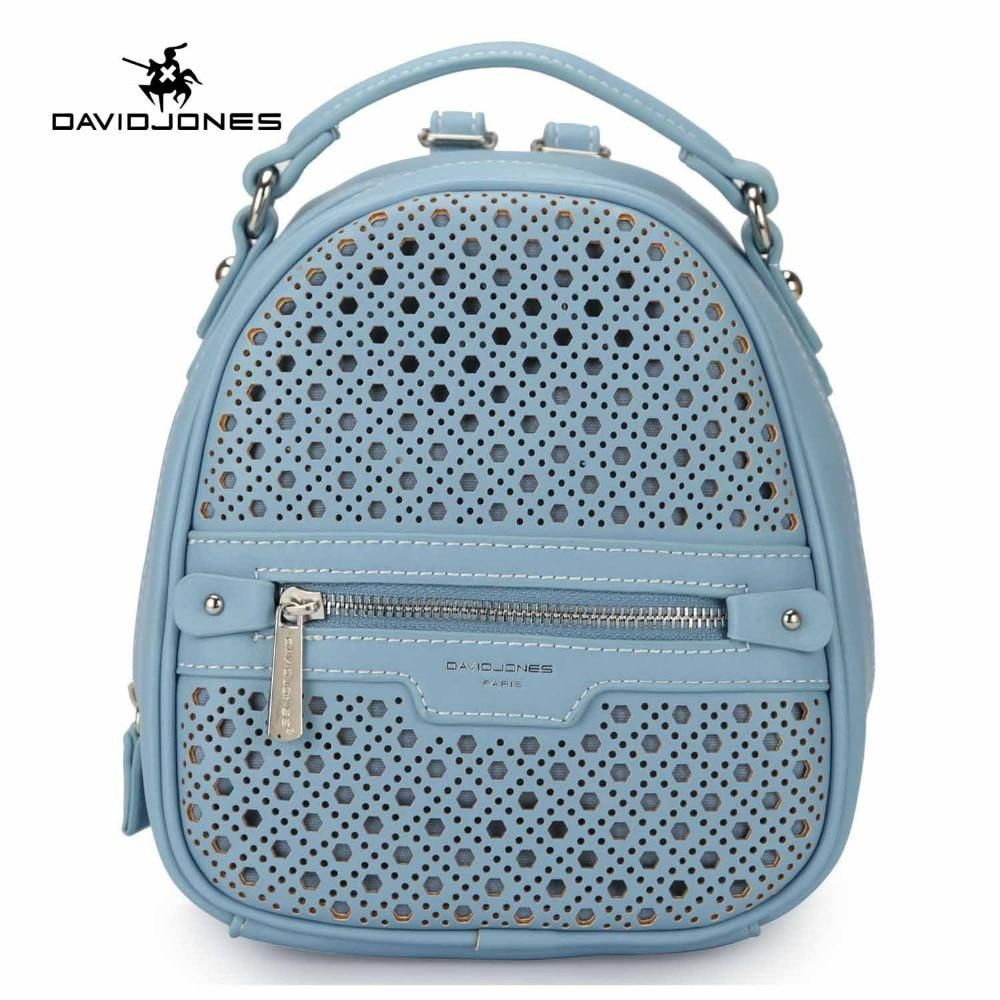 58ba6cebeb DAVIDJONES women backpacks faux leather female shoulder bags big lady  hollow out softpack girl brand school bag drop shipping. Yesterday s price   US  49.99 ...