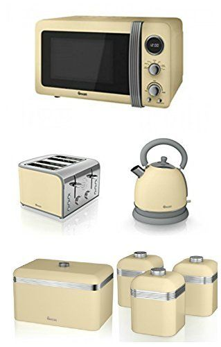 Kettle Toaster And Microwave Triple