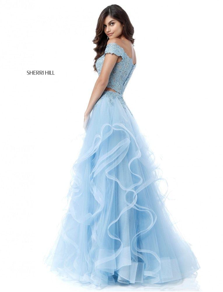 Blue Debs Prom Dresses 2018 Ruffles