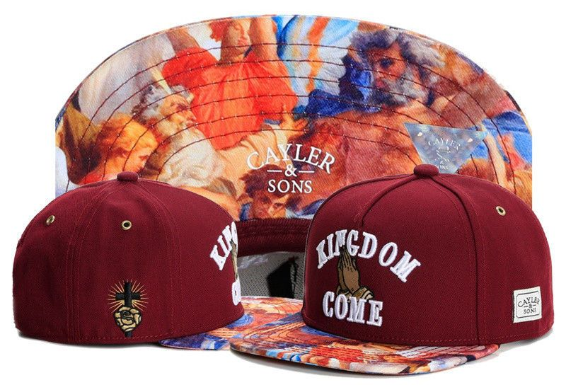 Hot Hip Hop Men s Cayler Sons Hat Adjustable Baseball Snapback Cap Red Hat  66  f9e731207a6