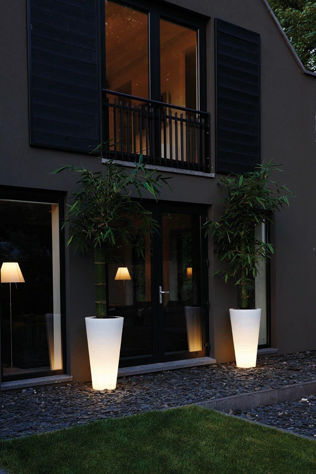 Beautiful Lighting Outdoor With Pure Straight High Led Light Elho Pot Pure Light Design Outdoor Lighting Outside Lighting Ideas Outdoor Kitchen Lighting