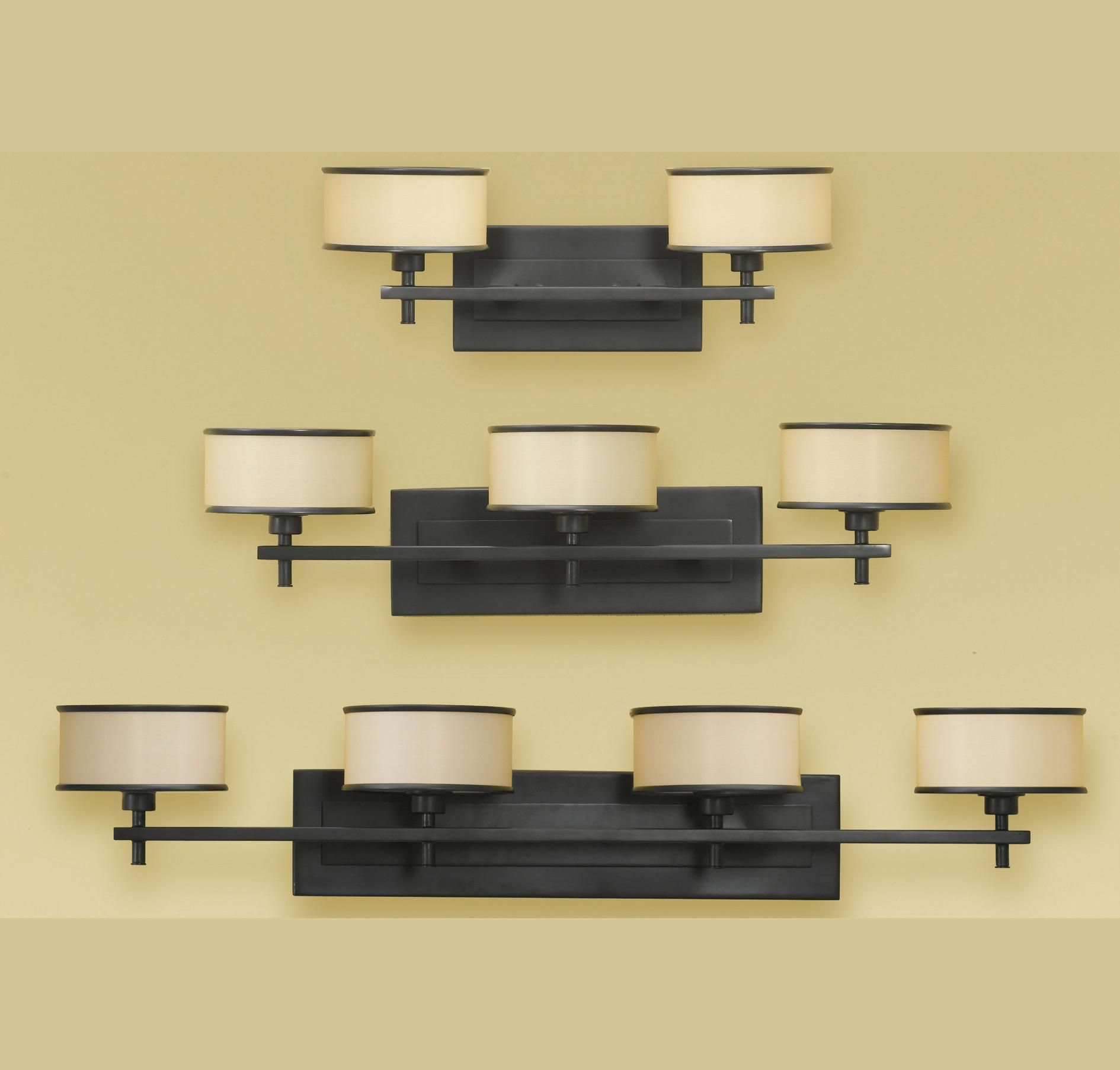 Feiss Vs13702Dbz Casual Luxury 2Light Vanity Fixture In Wall Stunning Luxury Bathroom Lighting Fixtures Design Ideas