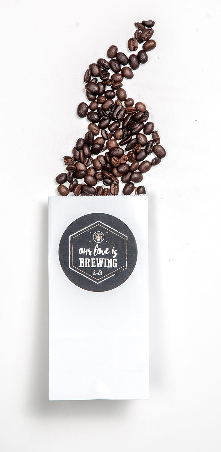 Give your guests a gift of coffee beans to celebrate your wedding ...