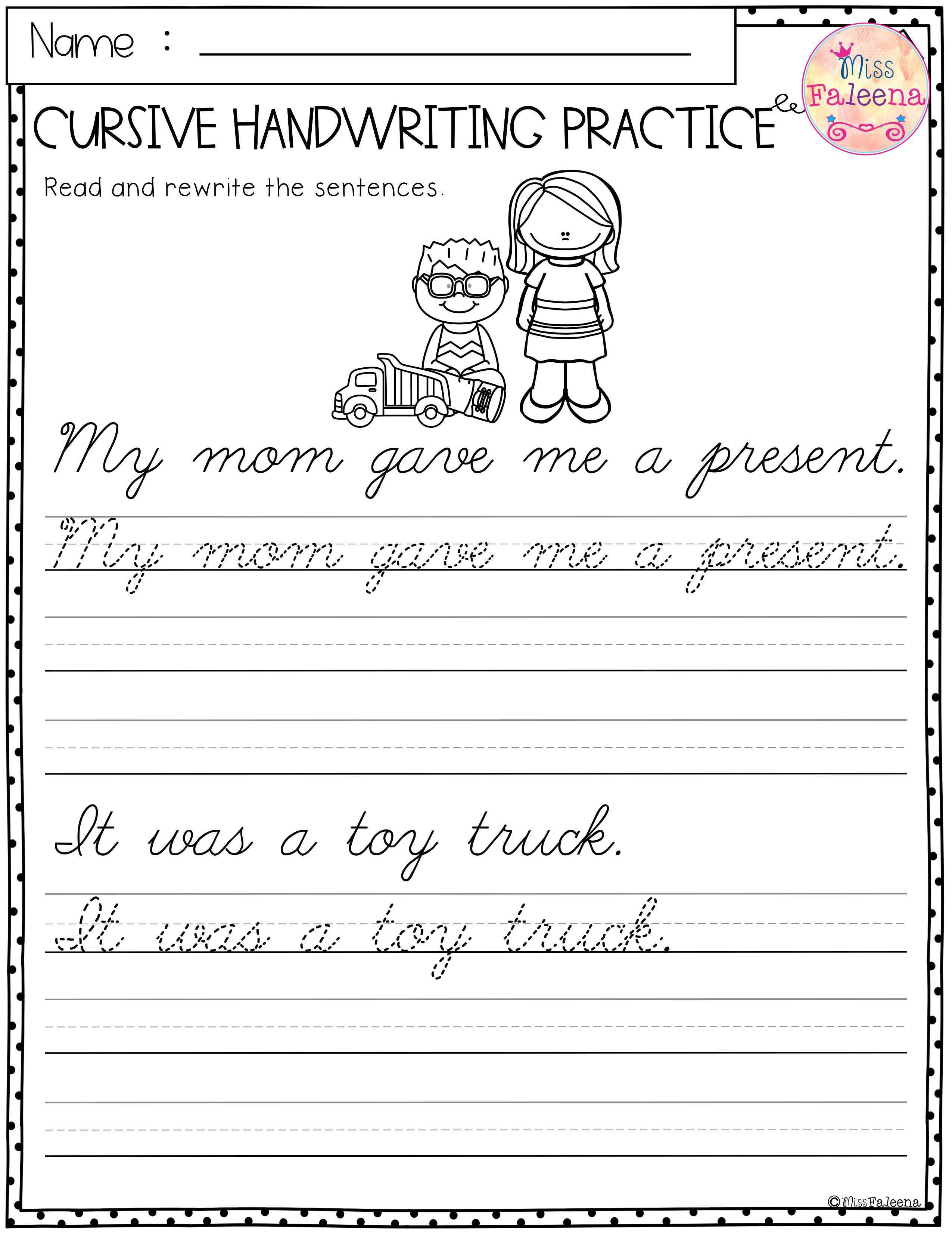 christmas cursive handwriting practice miss faleena 39 s store cursive handwriting practice. Black Bedroom Furniture Sets. Home Design Ideas