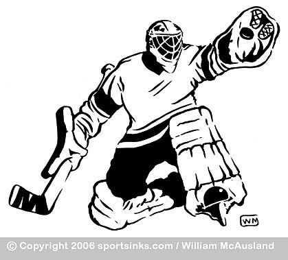 Clip Art Goalie Ink Illustrations Silhouette Projects